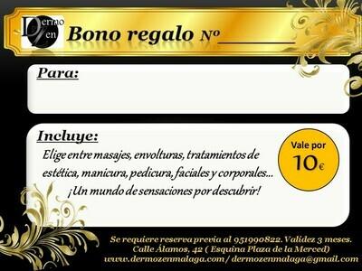 BONO REGALO 10 euros