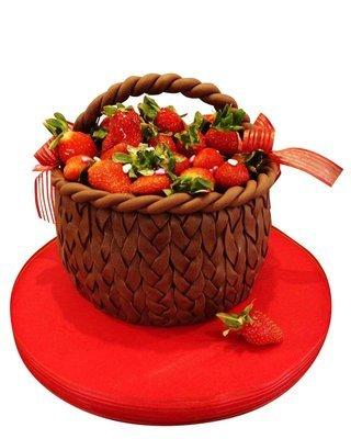 Erdbeere Figure Torte