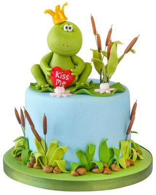 Frosch Figur Torte