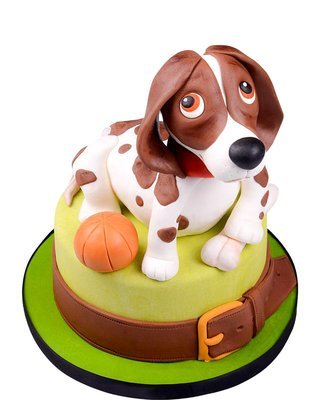Hund Figur Torte
