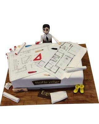 Ingenieur Figur Torte
