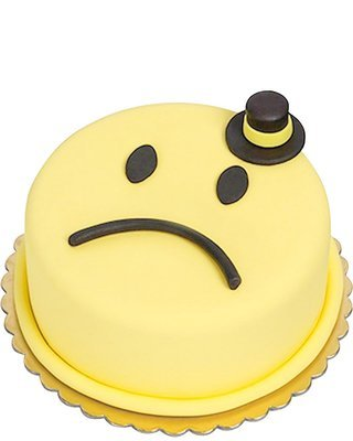 Sad Emoji Gentelman Figur torte