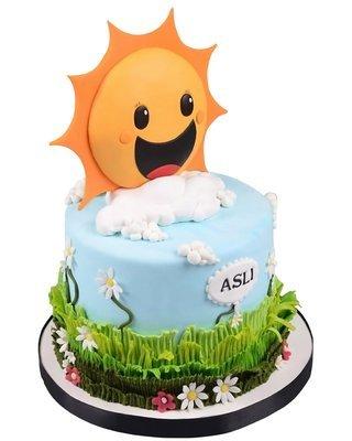 Sonne Figur Torte