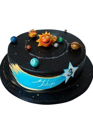 Sonnesystem Figur Torte