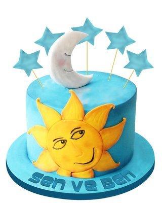 Sonne und Mond Figur Torte