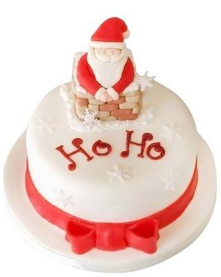 Weihnachtsmann Figur Torte