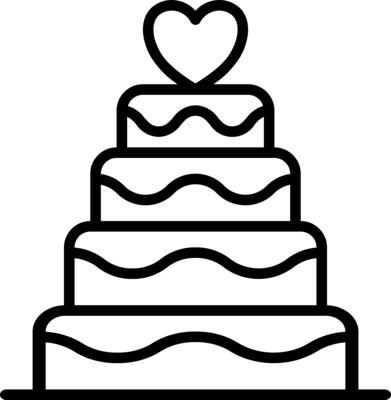 Individuelle Hochzeitstorte - Wunschtorte / Traumtorte 4-Stock