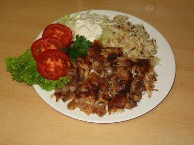 Dönerteller Chicken( mit Reis & Salat)