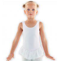 Balletpakje zonder mouw + rokje (Lycra)