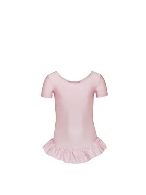 Balletpakje met korte mouw + rokje (Lycra)