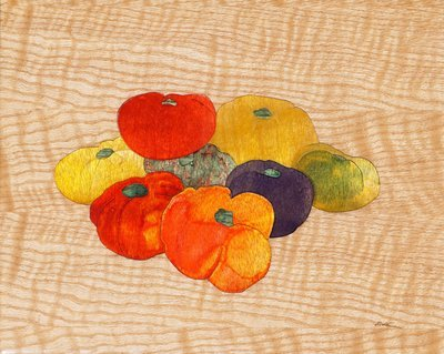 Heirloom Tomatoes Out Of Wood #15