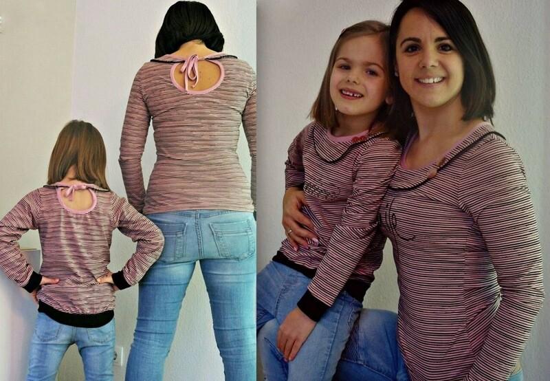 Kombi-Ebook Shirt Kleid  LILLY Gr. XS-XXXL & mini LILLY Gr. 80-146w
