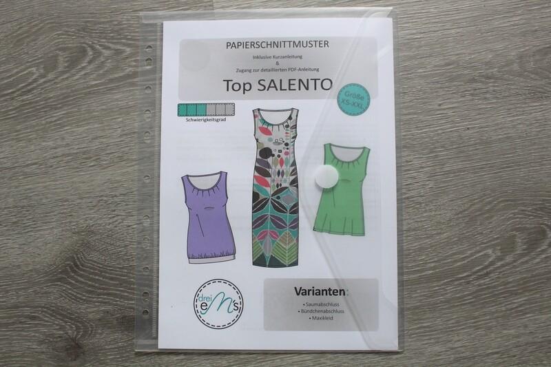 Papierschnittmuster Top SALENTO Gr. XS-XXL