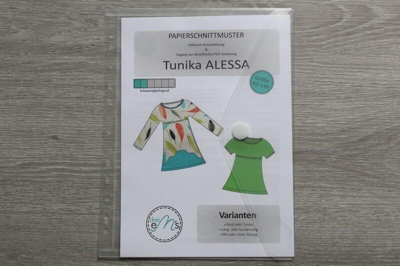 Papierschnittmuster ALESSA Gr. 92/98 - 140/146