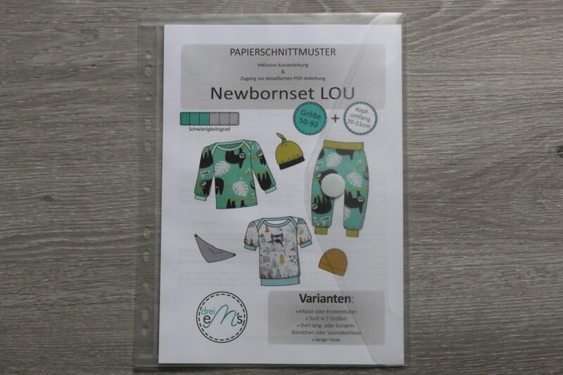 Papierschnittmuster  Set LOU -Hose, Shirt, Mützen,Tuch