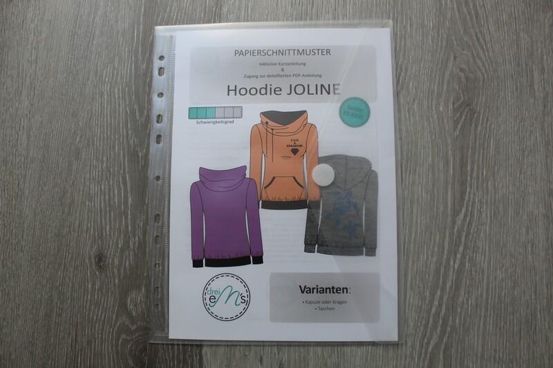 Papierschnittmuster Hoodie JOLINE XS-XXXL