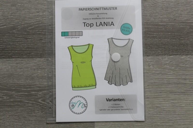 Papierschnittmuster Top LANIA Gr. XS-XXL