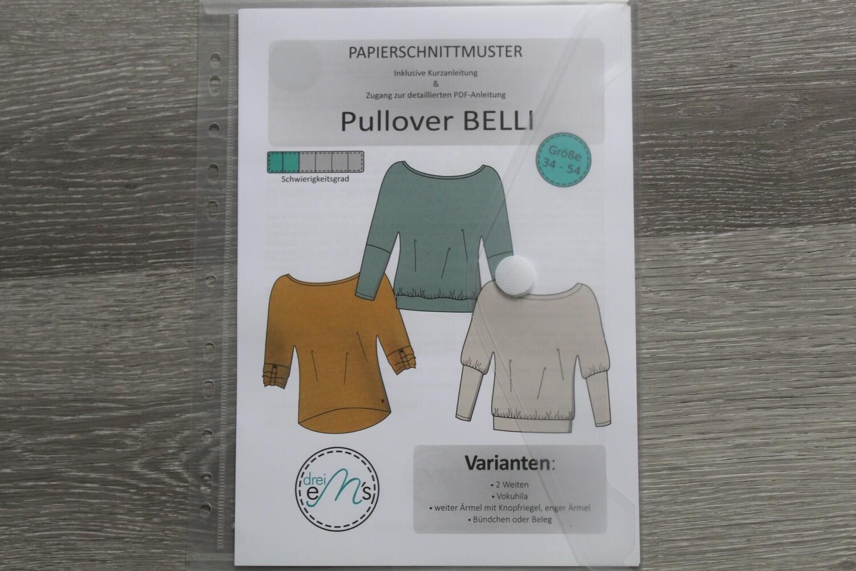 Papierschnittmuster Pullover BELLI Gr. 34-54