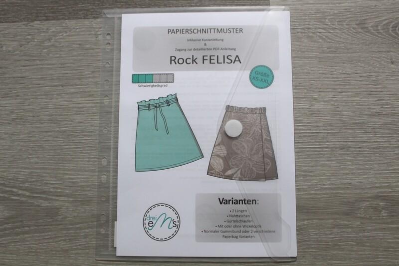 Papierschnittmuster Rock FELISA Gr.XS-XXL
