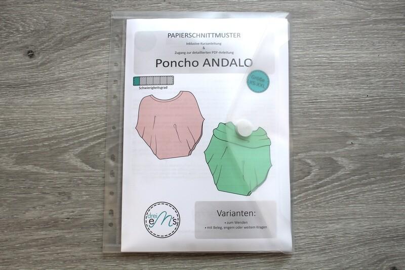 Papierschnittmuster Poncho ANDALO  XS-XXL