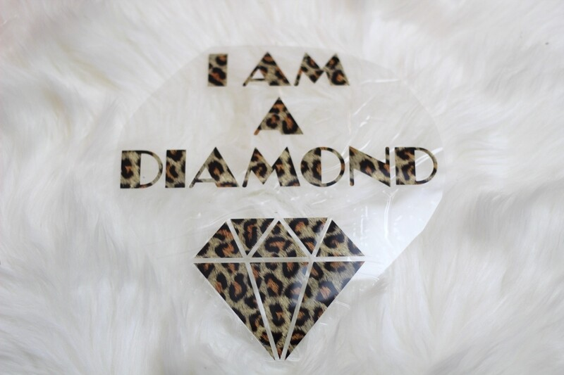 Bügelbild  I AM A DIAMOND