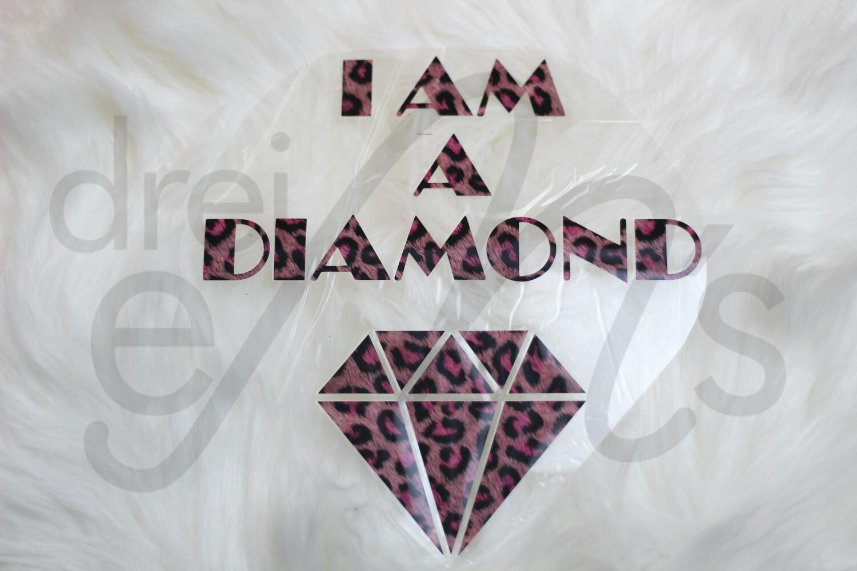 Bügelbild  I AM A DIAMOND