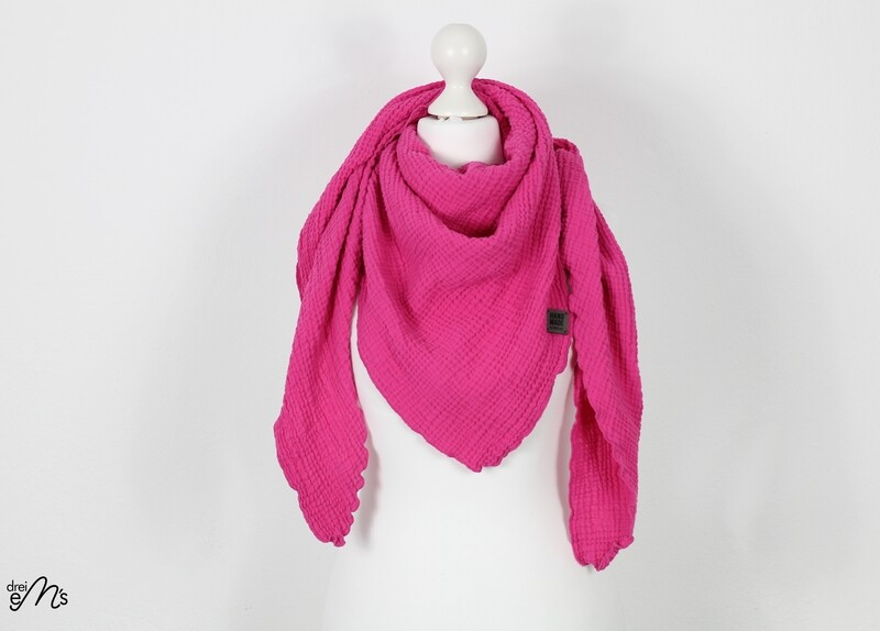 Musselin Dreiecks-Tuch pink