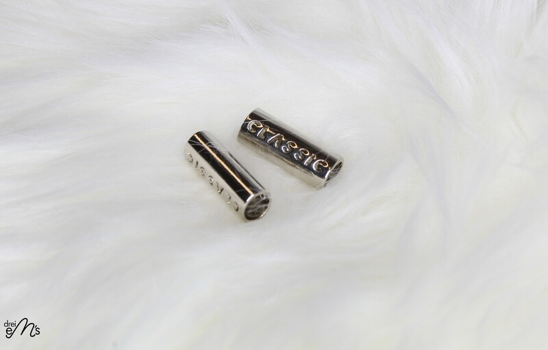 2 Kordelenden  8 mm Nickel