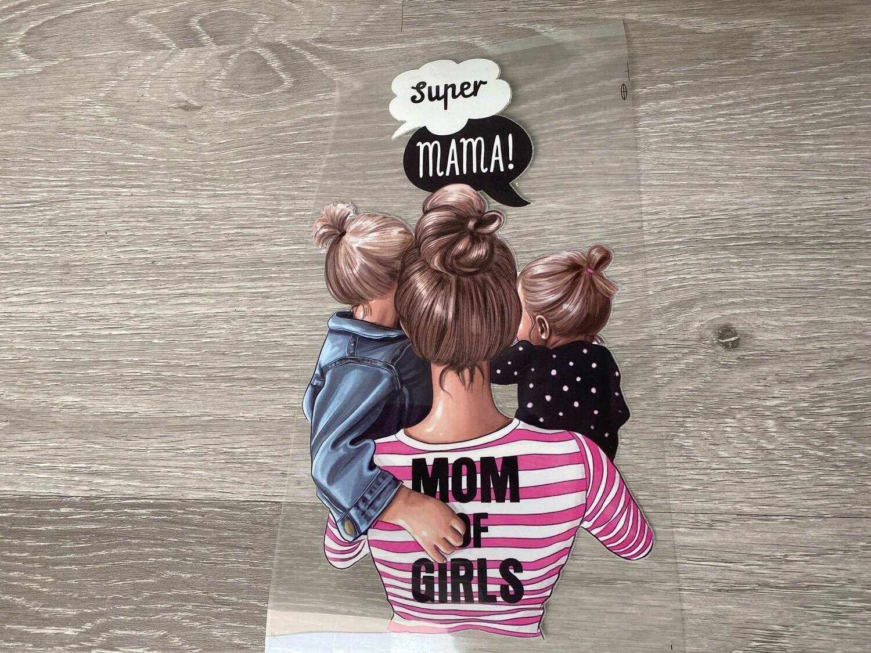 Bügelbild  Super Mom