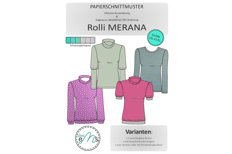Papierschnittmuster Rolli MERANA Gr. XS-XXXL