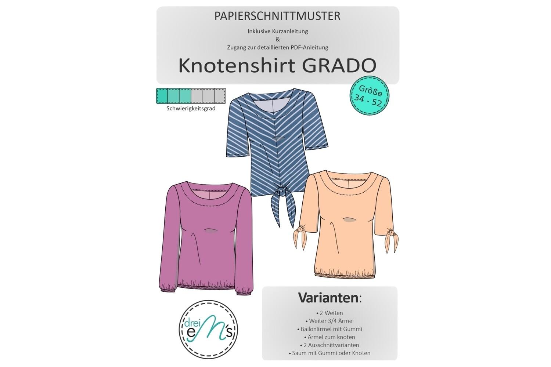 Papierschnittmuster Shirt GRADO Gr. 34-52