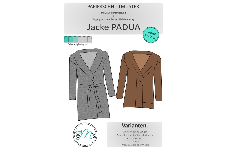 Papierschnittmuster Mantel/Jacke PADUA  XS-XXL