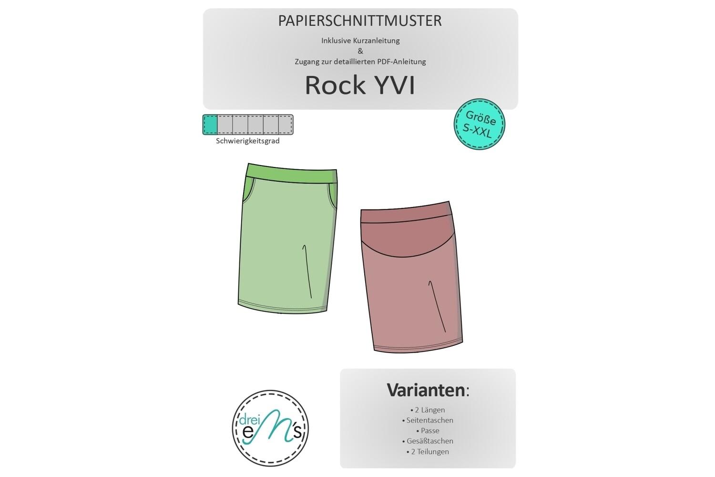 Papierschnittmuster Rock YVI Gr. S-XXL