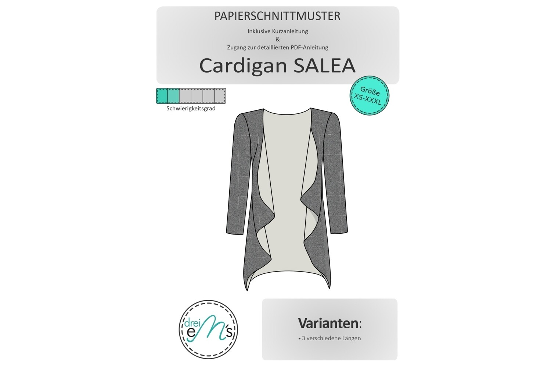 Papierschnittmuster Cardigan SALEA  XS-XXXL