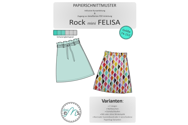 Papierschnittmuster Rock mini FELISA Gr. 74/80-146/152