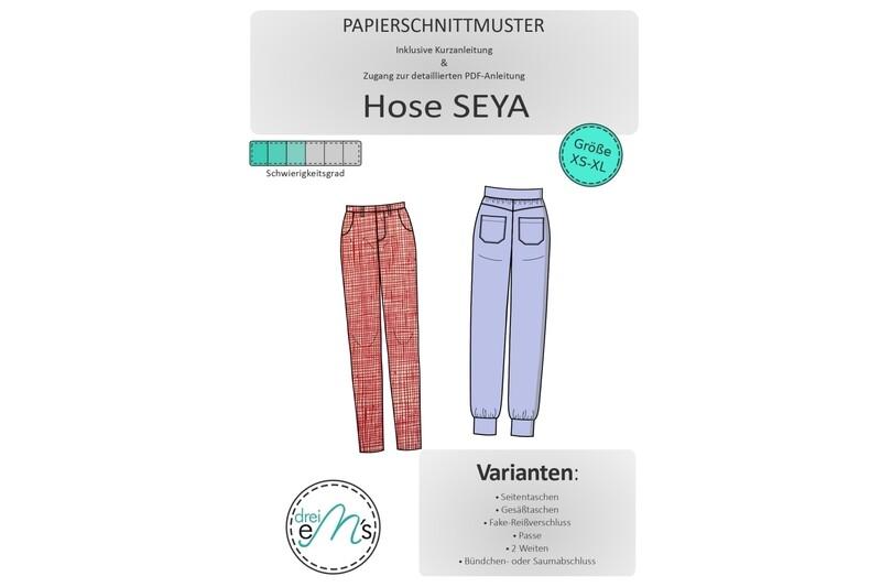 Papierschnittmuster Hose SEYA XS-XL