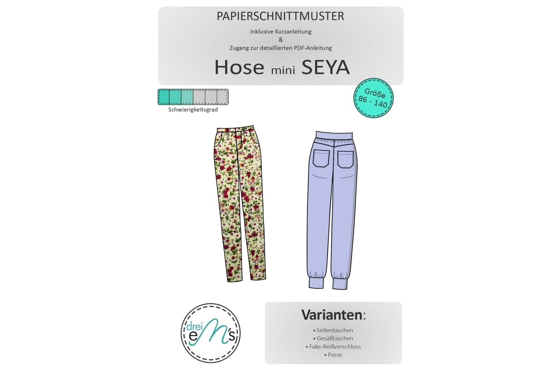Papierschnittmuster Hose mini SEYA 86/92-134/140