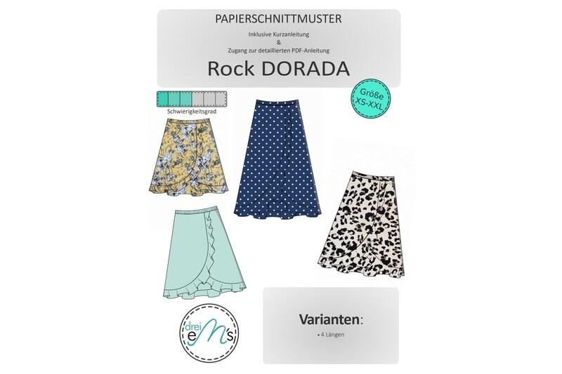 Papierschnittmuster Volant-Rock DORADA Gr. XS-XXL