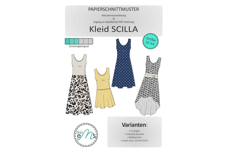Papierschnittmuster Kleid SCILLA Gr. 32-54