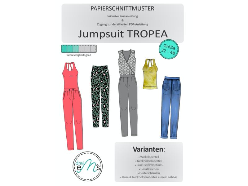 Papierschnittmuster Jumpsuit TROPEA Gr. 32-48