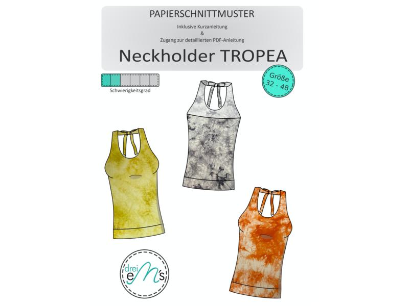 Papierschnittmuster Neckholder TROPEA Gr. 32-48