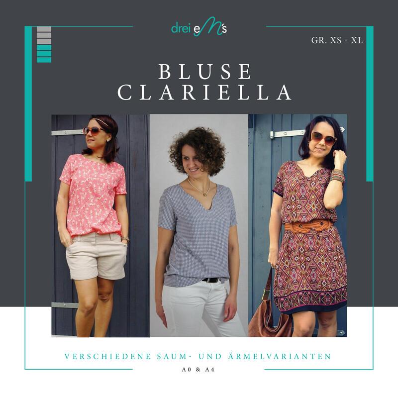 Ebook Bluse CLARIELLA Gr. XS-XL