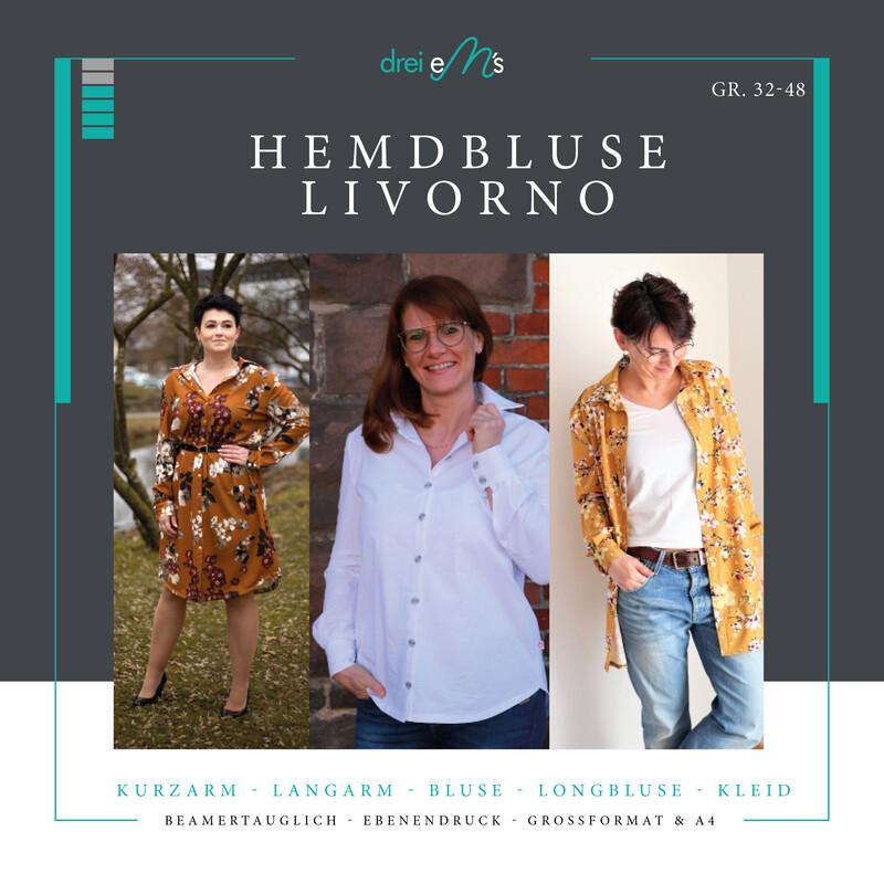 Ebook Hemdbluse LIVORNO Gr. 32-48