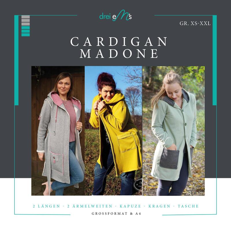 Ebook Cardigan MADONE  XS-XXL