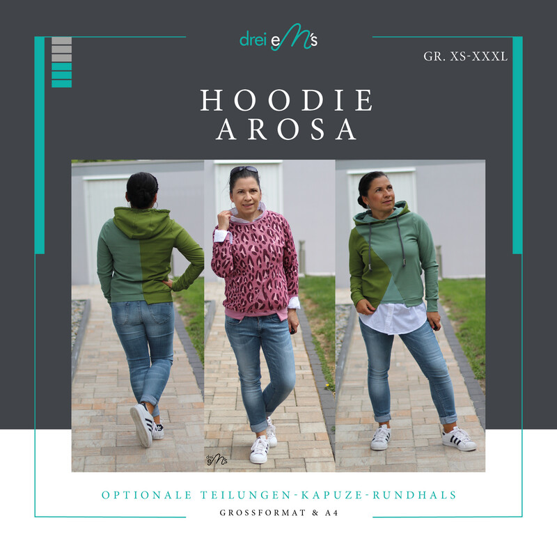 Ebook Hoodie AROSA Gr. XS-XXXL