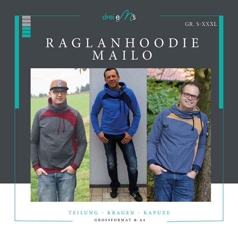 Ebook Raglanhoodie MAILO Gr. S-XXXL