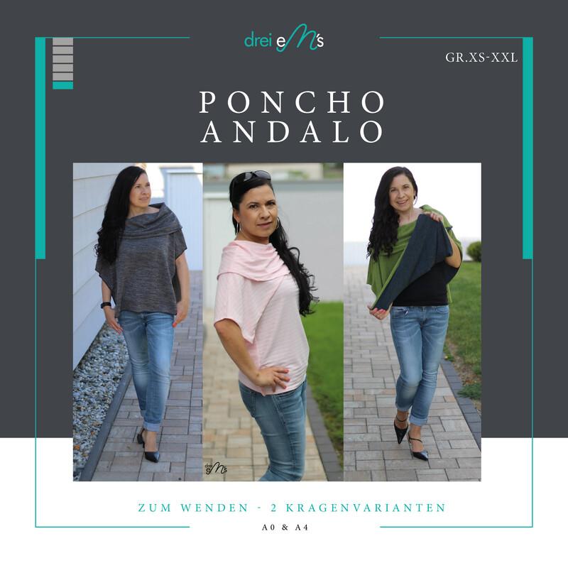 Ebook Poncho ANDALO Gr. XS-XXL