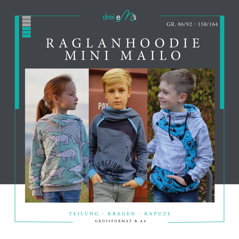 Ebook Raglanhoodie  mini MAILO 86/92- 158/164