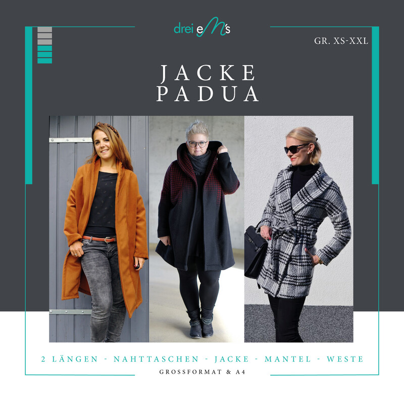 Ebook Mantel/Jacke PADUA  XS-XXL A4+ Großformatdatei