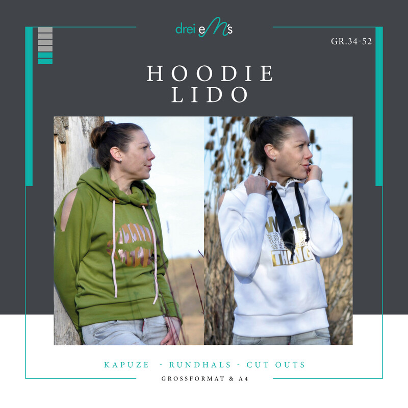 Ebook Oversize Hoodie LIDO Gr. 34-52